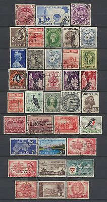 No: 48937 - AUSTRALIA - LOT OF 36 OLD STAMPS - USED!