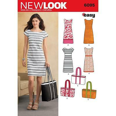 NEW LOOK PATTERN easy sewing Misses' sleeveless or cap-sleeved 6095
