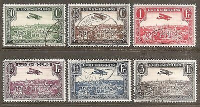 1931-33 Luxembourg Air Complete Set of 6 Used (Cat £20)