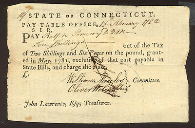 Oliver Wolcott Jr. - Promissory Note Signed 02/18/1782 With Co-Signers