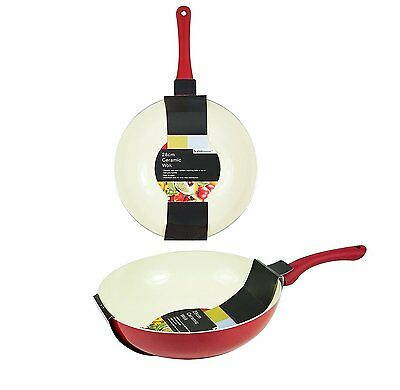 Ceramic Wok Pan Non-Stick 28Cm Frying Kitchen Stir Fry