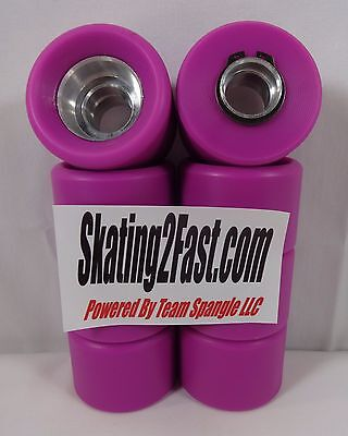 New Anabolix 99A Amethyst Reign Skate Wheels Set of 8 Tires & Hubs