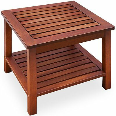 Garden Coffee Side Table Acacia Wood Patio Outdoor Conservatory Wooden Furniture