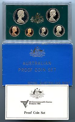 "Australia ~ 1982 ~ 6 Coin ~ ""commonwealth Games"" ~ Proof Set ~ (Box & Coa)"