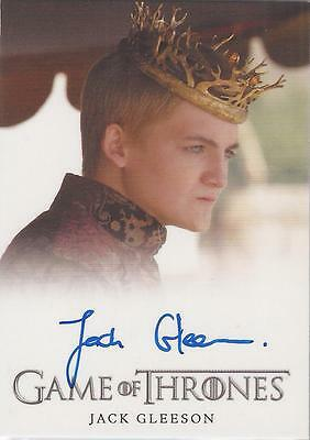 "Game of Thrones Season 3 - Jack Gleeson ""King Joffrey Baratheon"" Autograph Card"