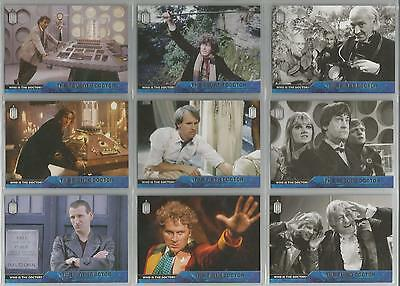 """Topps Doctor Who 2015 - """"Who Is The Doctor?"""" Set of 12 Chase Cards #D1-D12"""