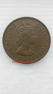 """Rare*1954*jersey Liberation 1/12 One Twelfth Shilling-""""penny""""elizabeth Ii Coin"""