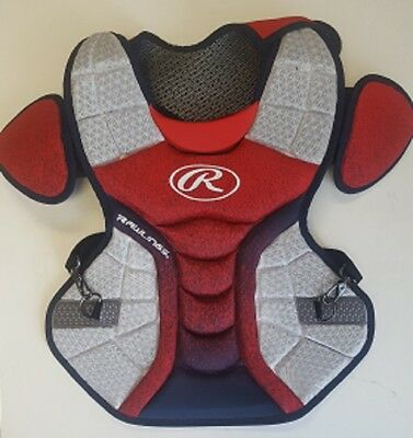 """Rawlings CPVELI Red/Navy/White Velo Intermediate Chest Protector 15.5"""" Ages13-15"""