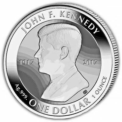 John F. Kennedy Centenary of Birth 2017 Reverse Silver Bullion