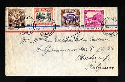 15809-WESTERN SAMOA-OLD COVER ALEIPATA to ANVERS (belgium) 1948.WWII.British.