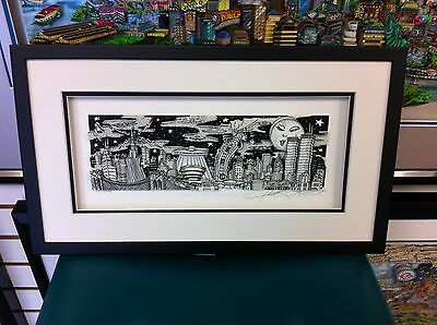 """Charles Fazzino 3D Art """" UFO Over New York """" Signed & Numbered Edition Framed"""