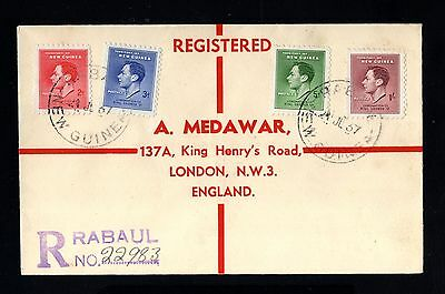 15910-NEW GUINEA-REGISTERED COVER RABAUL to LONDON (england) 1937.WWII.British.