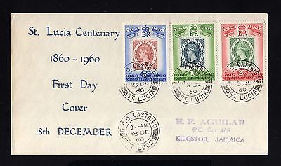 15877-ST.LUCIA-FIRST DAY COVER CASTRIES to JAMAICA.1960.British.