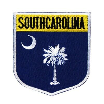 State Flag Shield South Carolina Patch Badge Travel Embroidered Iron On Applique