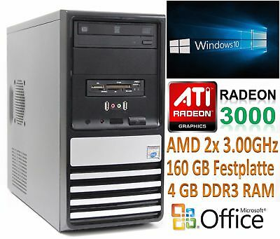 Gamer PC Intel i5 4x3.2GHz 8GB DDR3 RAM 640GB HDD ATI Grafikkarte 1GB Win.7 Pro