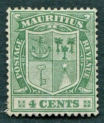 MAURITIUS 1922 4c green SG210 mint MH NG Coat of arms a #W27