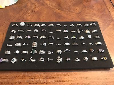 72 ~ Sterling Silver Large Ladies Rings Lot