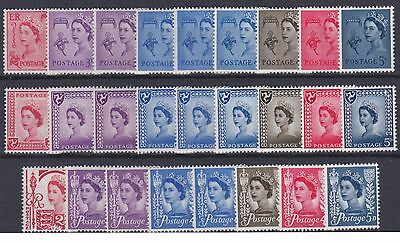Guernsey, I of Man & Jersey pre-decimal issues 26 stamps, all unmounted mint.