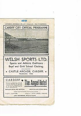 Cardiff City v Moscow Dynamo 45/6 November 17th ** NOW REDUCED**