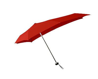 "Senz ""Smart S"" Wind Resistant Folding Umbrella in Sunset Red"