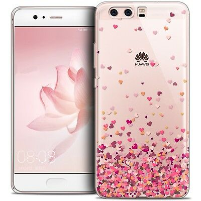 Coque Crystal Gel Huawei P10 Extra Fine Souple Sweetie Heart Flakes