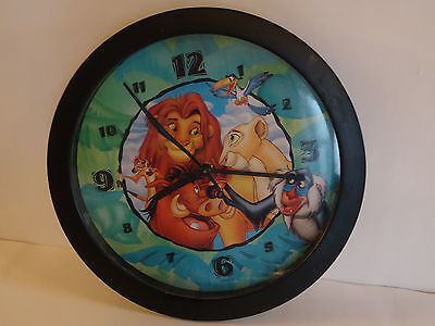 "Vintage Disney THE LION KING Picture Wall Clock 11"" Simba Works"