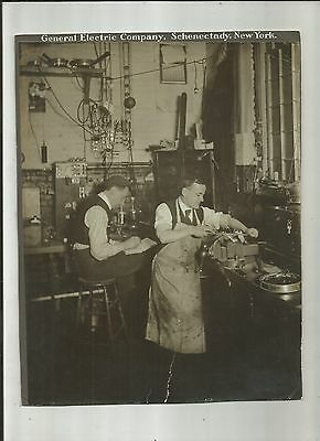 Early 1900's General Electric Company Interior Shop Cabinet Photo Schenectady NY