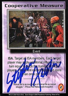 BABYLON 5 CCG Stephen Austin WHEEL OF FIRE Cooperative Measure AUTOGRAPHED