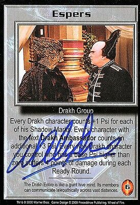 BABYLON 5 CCG Wayne Alexander WHEEL OF FIRE Espers AUTOGRAPHED