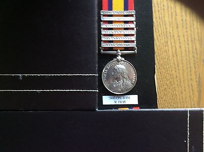 QSA medal 6 bars,casualty 17th Lancers,Fray,Queens South Africa ,Cpl Shoeing Smi