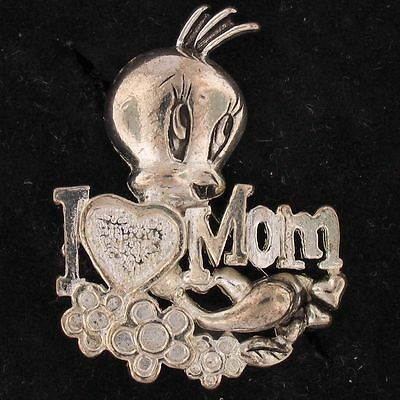 PIN BROOCH Tweety Bird WARNER BROS LOONEY TUNES Silver MOTHERS DAY WB STORE 4709