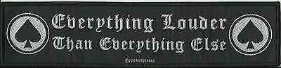 MOTORHEAD everything louder 2010 WOVEN SUPERSTRIP SEW ON PATCH official LEMMY