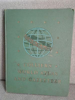 1945 COLLIER'S WORLD ATLAS AND GAZETTEER States Countries Maps Constellations