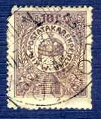 HUNGARY-#103A-1916-10f Postal Savings Stamp-USED