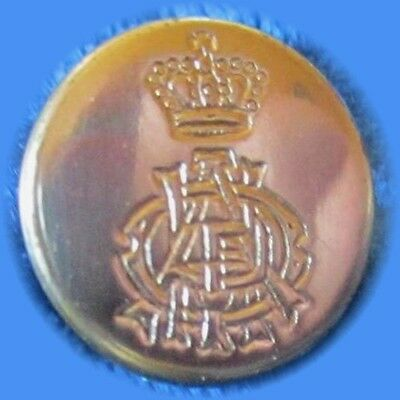Set of 4 Shiny Brass  Military Buttons 11 th Hussars With Queen E II Crown