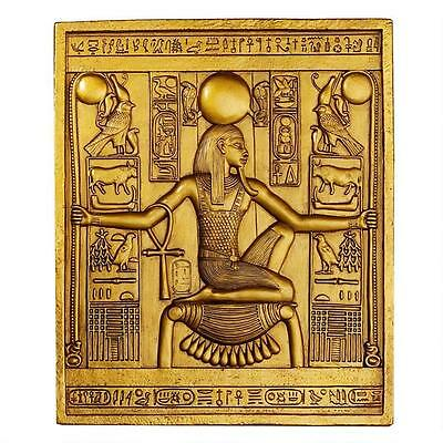 18th Dynasty Egyptian Pharaoh Tutankhamen King Tut Golden Wall Stele Plaque