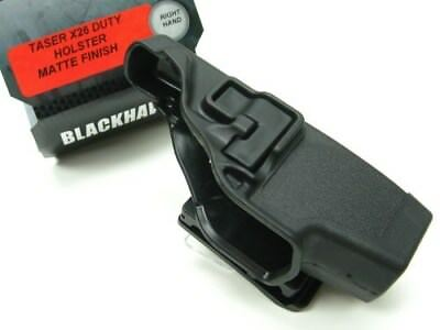 BLACKHAWK! Black SERPA Level 2 RIGHT Hand Holster Fits TASER X-26! 44H015BK-R