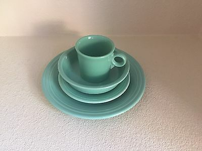 Fiesta Ware Retired Sea Mist Green 4 Piece Place Setting First Quality Unused
