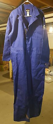 Bulwark FR Fire Flame Resistant Coveralls Blue Mens Size 46 Regular Long Sleeve