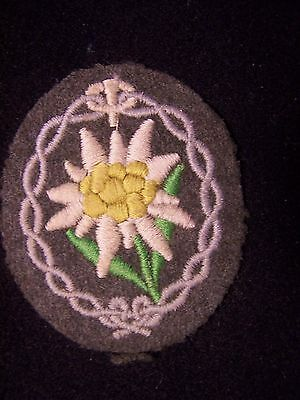Wwii Original German Army Mountain Gebirgsjager Edelweiss Patch