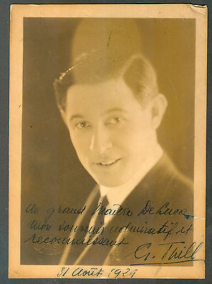 Georges Thill French Tenor  Opera Singer Real Photo Signed 1928