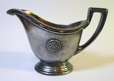 Antique 1928 HOTEL STATLER Small GRAVY BOAT 2 Oz Reed & Barton SILVER SOLDERED