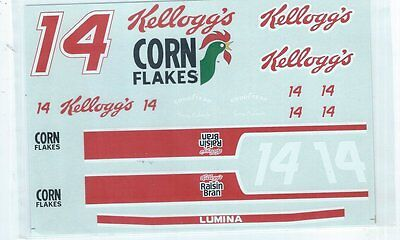 "#14 Kellogg's Lumina Raisin Bran Nascar Decals Mib, 4 3/4"" X 7"""
