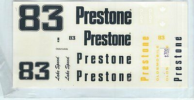"#83 Prestone Lake Speed Nascar Decals Mib, 3 1/2"" X 7"""