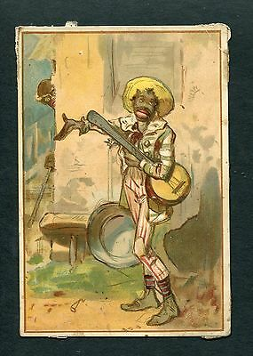 Black Americana New Orleans French Market Tea & Coffee Depot Trade Card