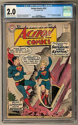 Action Comics #252 CGC 2.0 (C-OW) 1st Supergirl Appearance