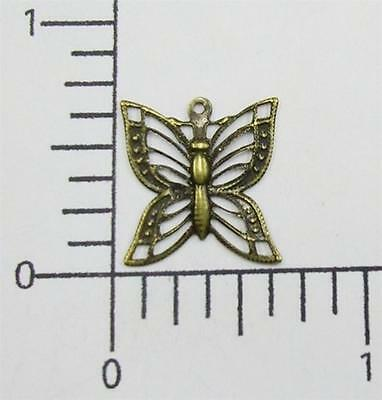 35113         4 Pc Brass Oxidized Filigree Butterfly Jewelry Finding Charm
