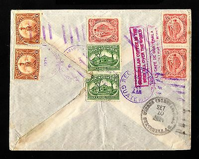 15925-GUATEMALA-AIRMAIL COVER SOLOGA to HANNOVER (germany) 1924.