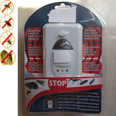 Ultra Sonic Plug Repeller Pest Control For In Mice Mouse Rodent Rat Spider Wall