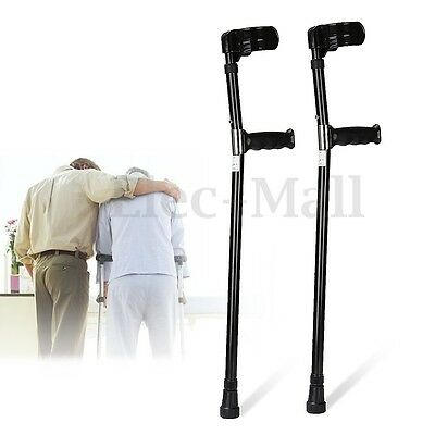 Pair Of Aluminum Alloy Forearm Crutches Pedal Elbow Armor Auxiliary Lightweight